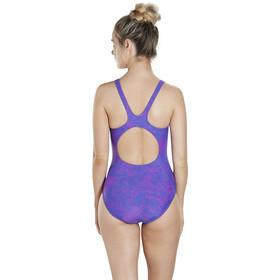 speedo Boom Allover Muscleback Swimsuit Women Ultramarine/Diva